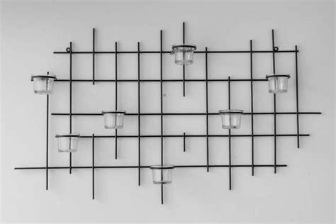 kerzenhalter wand weiss wandteelichthalter 7xxl wandkerzenhalter metall 83cm