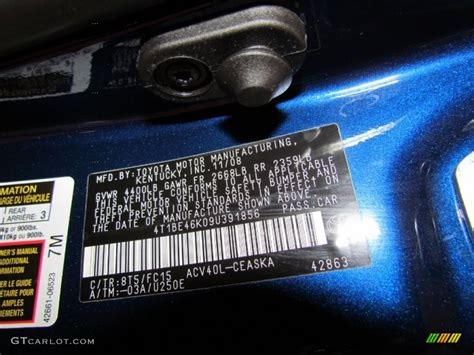 paint color codes for 2011 toyota camry paint free engine image for user manual