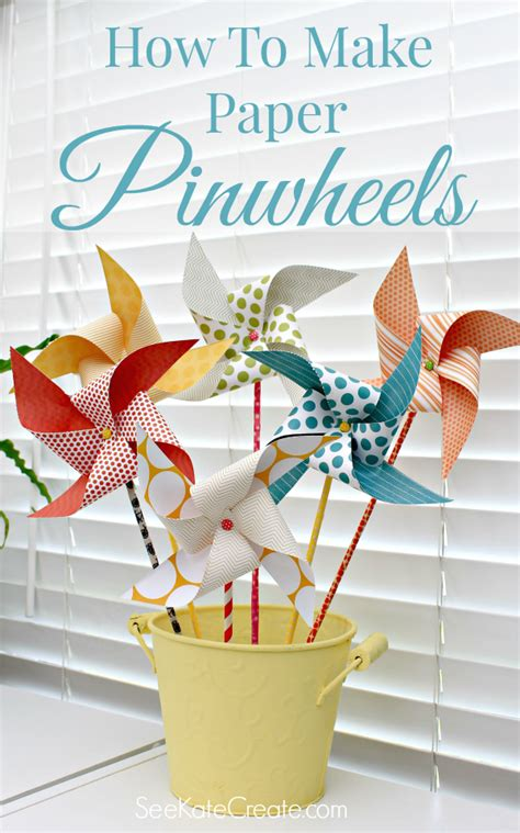 How To Make A Paper Pinwheel - how to make paper pinwheels a craft in your day
