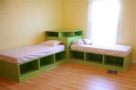 set corner twin beds  storage walsall home
