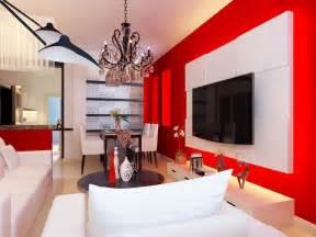 best red living room design