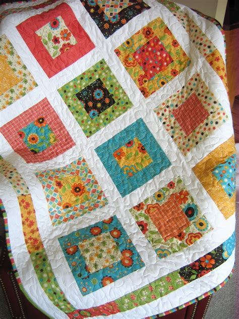 Easy Quilt Patterns Using Quarters by Baby Quilt Pattern Layer Cake Or Quarters Simple