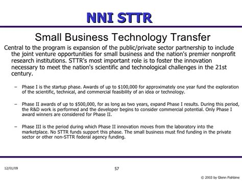 small business technology transfer program phase i sttr introduction to nanotechnology part 1