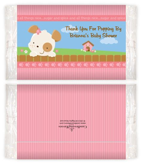 Baby Shower Popcorn Wrappers by Puppy Tails Baby Shower Popcorn Wrappers Baby