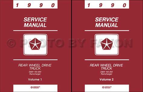 motor repair manual 1992 dodge d350 free book repair manuals 1990 dodge pickup truck and ramcharger repair shop manual original
