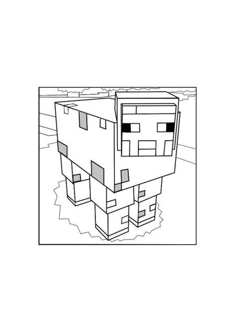 minecraft sheep coloring page minecraft pig and sheep coloring pages for kids to print