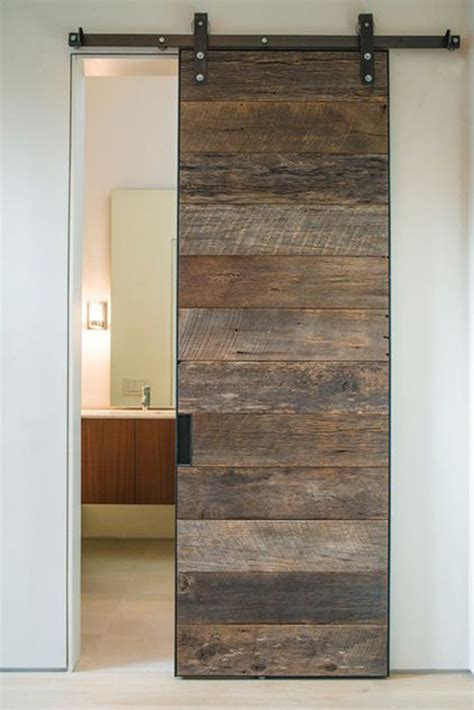 20 Awesome Sliding Doors With Rustic Accent Home Design Sliding Barn Doors For Bathroom