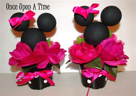 Minnie Decorations by 2 Minnie Mouse Decorations By Onceuponatimeshoppe On
