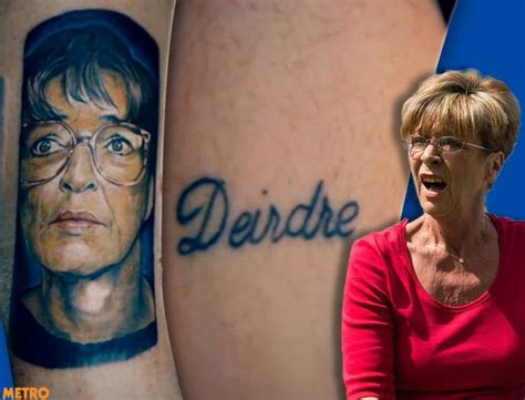 tattoo cover up ken barlow deirdre barlow fan has coronation street star s tattoo