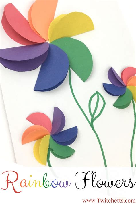 construction paper flower pattern rainbow paper flowers construction paper flowers craft