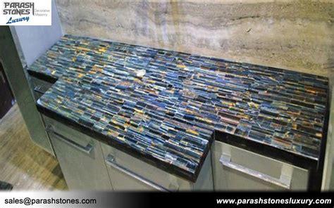 blue countertop semi precious slab furniture wholesale price
