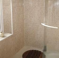 bathroom wall panels shower bathroomwallpanels decos beige sand mosaic tile effect bathroom wall