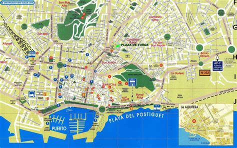map of alicante city mappa di alicante cartina di alicante
