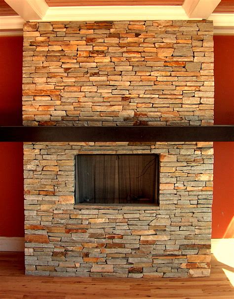 Apartment: Simple Design Endearing Stone Fireplace Ideas