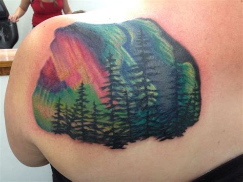 northern lights tattoo done at fine line tattoo in topeka