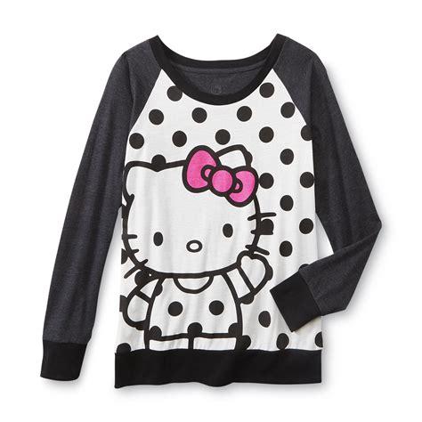 jersey pajama pattern hello kitty women s jersey knit pajama top polka dot