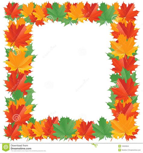 Fall Leaf Border Stock Images Image 16926954