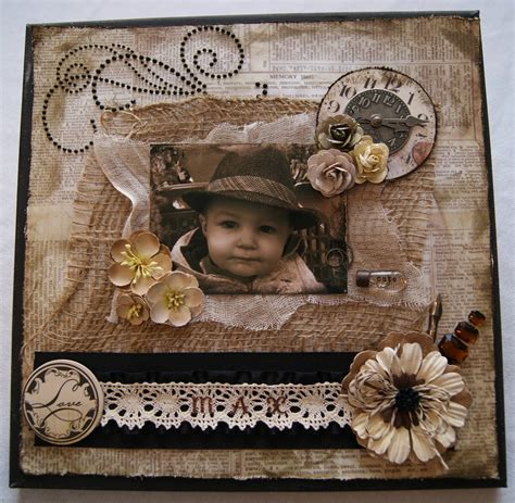 Scrapbook Canvas Tutorial | scrapbook canvas tutorial quot max quot canary street crafts