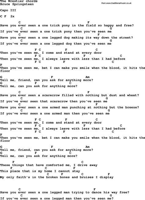 lyrics bruce springsteen bruce springsteen erie canal lyrics chords