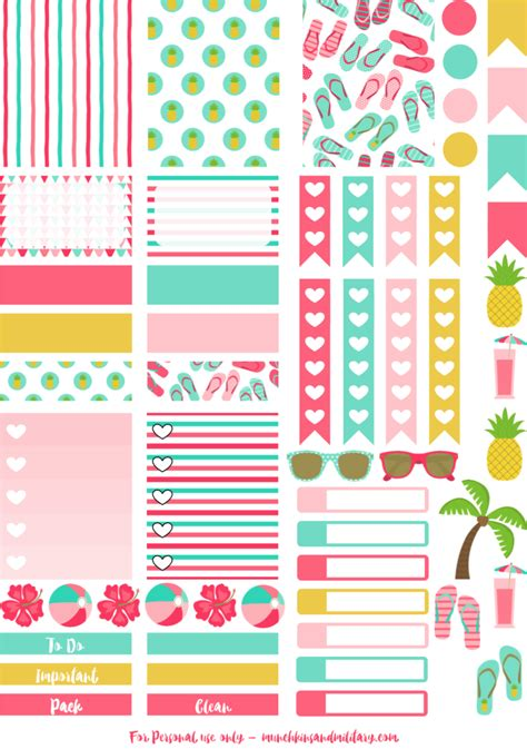 printable stickers erin condren planner stickers pastel and planners on pinterest
