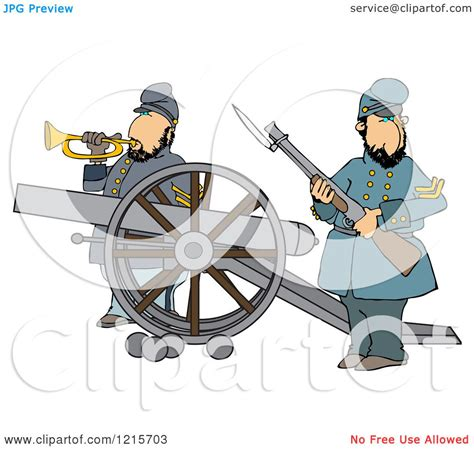 clipart  civil war soldiers holding  rifle  playing