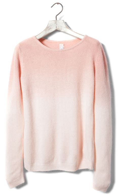 Two Color Sweater Pink dip dye angora sweater new products greece