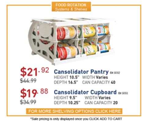 Cansolidator Pantry Plus by What Type Of Food Storage Shelves To Buy