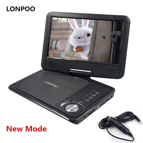 porta cd auto lonpoo new 9 inch portable dvd player swivel screen vcd cd