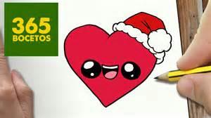 dibujos de corazones como dibujar un corazon para navidad paso a paso dibujos kawaii navide 241 os how to draw a
