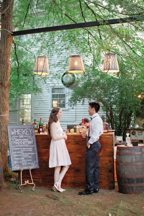 simply charming  smart unique outdoor wedding bar