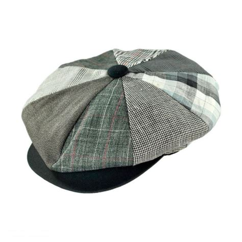 Patchwork Hat - capas headwear big apple patchwork cap flat caps