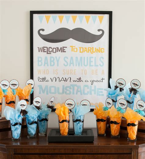 Mustache Themed Baby Shower Supplies by Reveal Mustache Baby Shower Bash Project Nursery