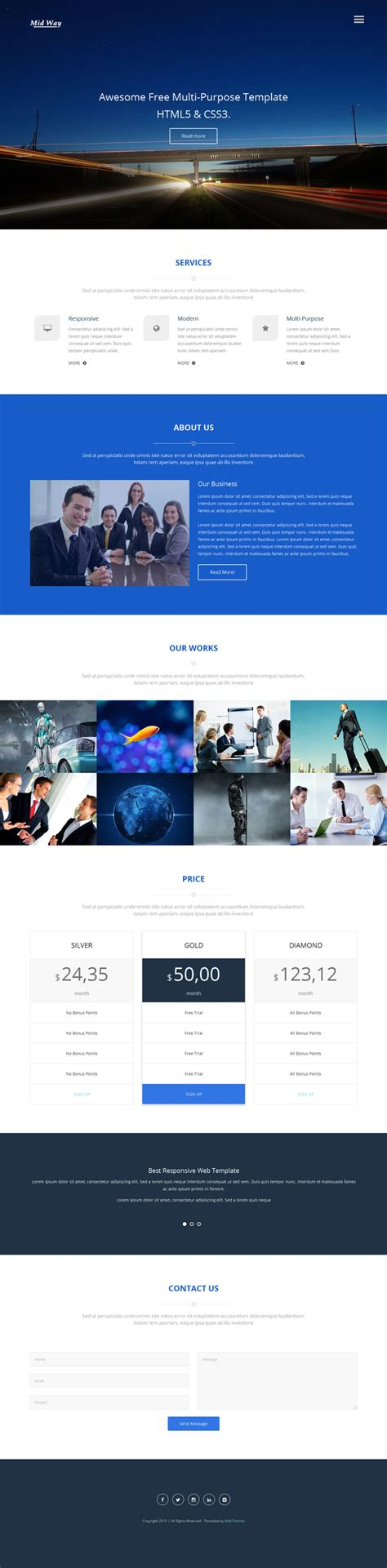 10 Best Free Website Html5 Templates February 2015 Website Templates Html5