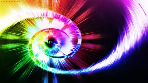 multi colored spiral and multi colored rays wallpapers and images