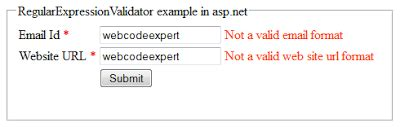 validation pattern in asp net how to use regularexpressionvalidator validation control