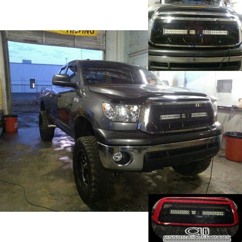 tundra led light bar 2010 2013 toyota tundra grill with 30 offroad led light bar