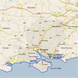 stockbridge map and road maps of hshire uk