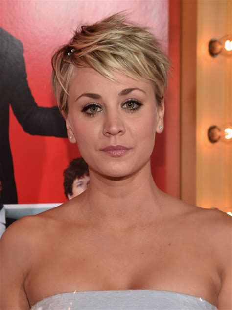 kaley cuoco sweeting messy cut short hairstyles lookbook