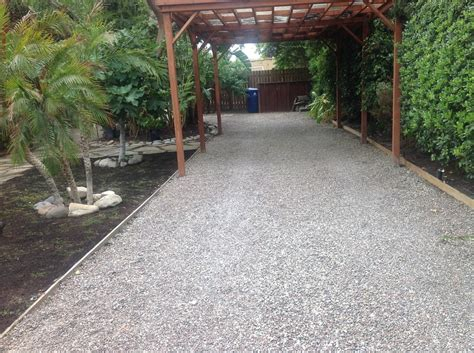 natural pea gravel driveway and pergola yelp