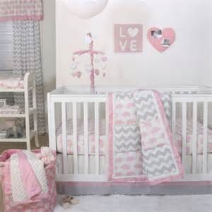 pink and gray elephant crib bedding the peanut shell 4 baby crib bedding set pink