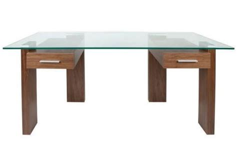 green glass top desk greenapple furniture column desk black walnut