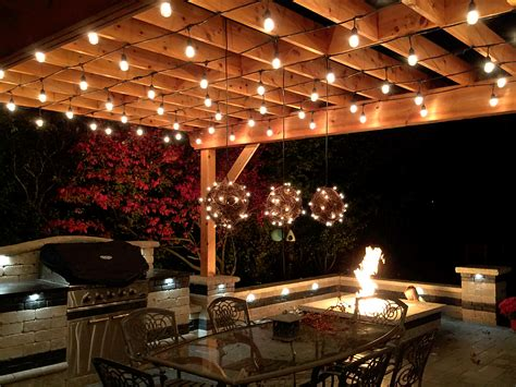 outdoor kitchen construction night lights chicagoland outdoor kitchens outdoor living with