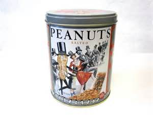 Planters Peanut Collectibles by Reserved Kate Planters Peanut Tin Collectible 1989 Salted
