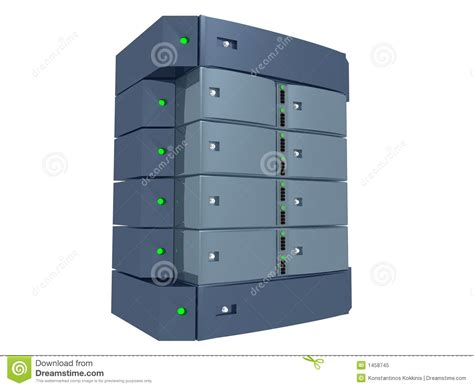 and light server dual server light blue royalty free stock photo image