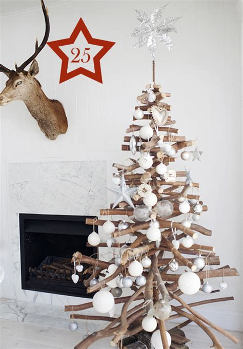 christmas trees made from branches 50 ways to upcycle tree branches and logs living vintage