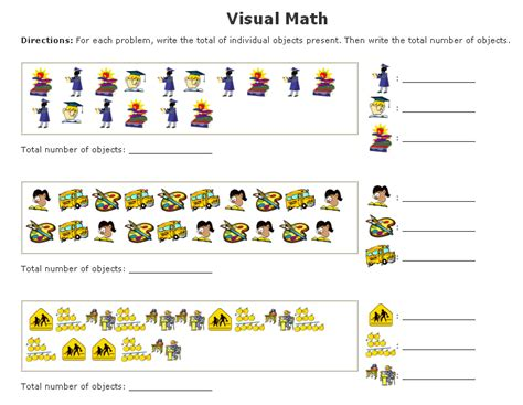 Math Worksheets Maker by Visual Math Worksheets Maker Sle Counting Tallies