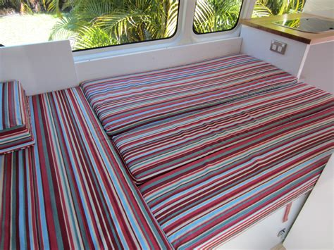 how to make bench cushion how to make cushions for a caravan the cervan converts