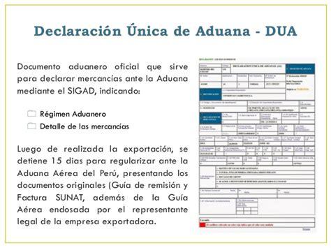 declaracion jurada para regimen aduanero log 237 stica de exportaci 243 n v 237 a a 233 rea