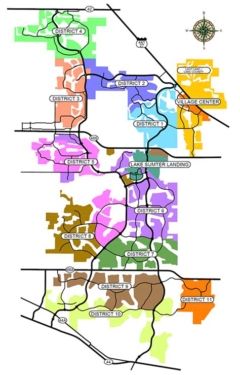 map of the villages florida vcdd districts map