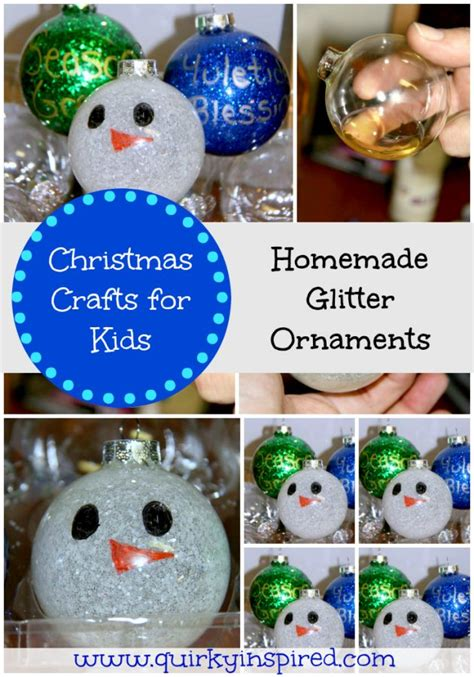 christmas crafts  kids glitter ornaments